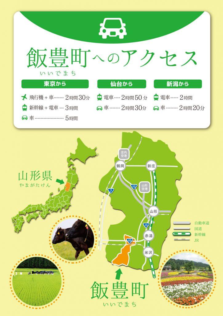 飯豊町へのアクセス