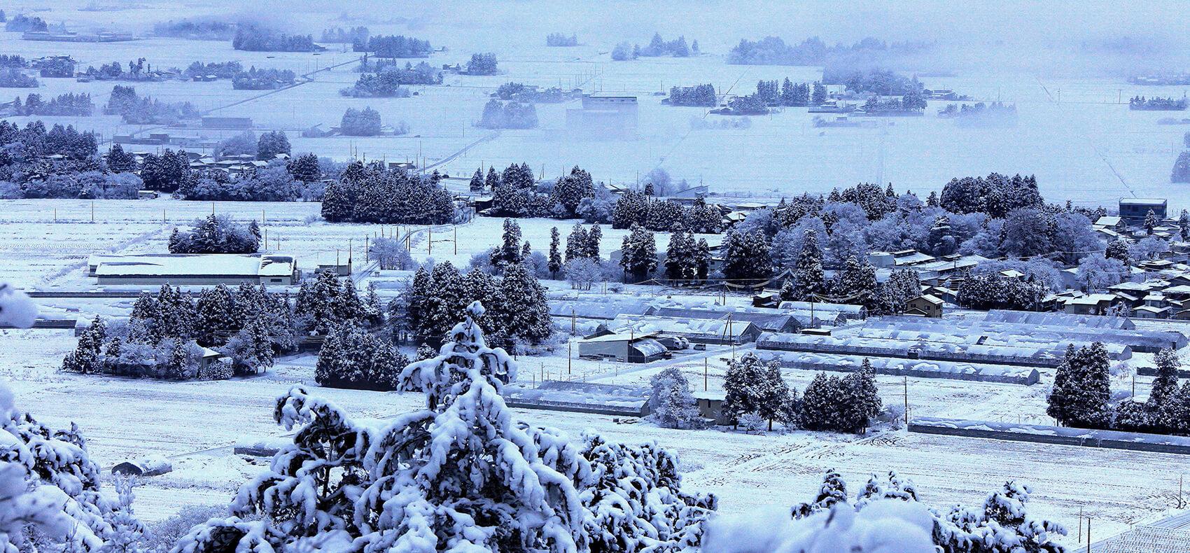 飯豊町雪景色
